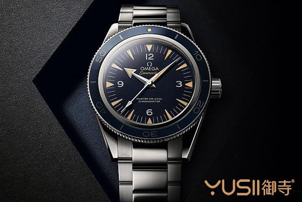 欧米茄新款复刻seamaster 300蓝面手表图片
